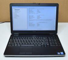 Dell Latitude E6540 Laptop 2.90GHz Intel Core i7-4600M 8GB RAM No HDD No Battery
