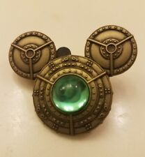 disney parks 2012 mickey head pin green jewel gem