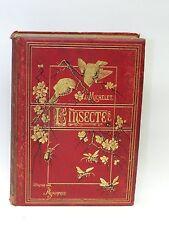 RARE BOOK: L'INSECTE J. Michelet  H. Giacomelli Paris, Hachette et Cie 1876