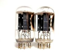 Matched PAIR 6GF7A RCA Fat Bottle Black Plate Tubes DualTriode Spud Amp-Test NOS