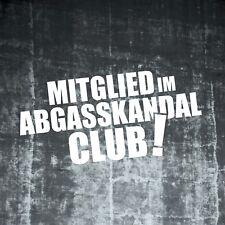 1x Aufkleber Mitglied Abgasskandal Club Fun Diesel Auto Folie Spaß 223