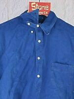 Levis Vintage Clothing LVC 1920s Indigo Blue Chin Strap Sunset Shirt S £215 New