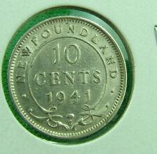 1941 Newfoundland 10 cent  very nice grade