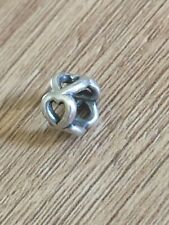 GENUINE Original PANDORA STERLING SILVER OPEN HEART Hearts SPACER CHARM Space