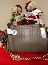 NWT Coach Madison Pintuck Leather Cafe Carryall Satchel Shoulder Bag 27889 Brown