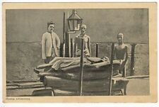 INDIA PC Postcard ASIA Asian HINDU CREMATION Death CREMATE Body INDIAN