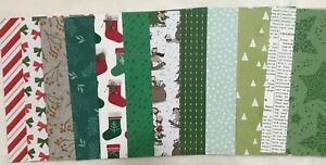 """Stampin' Up! Christmas Pack 3  DSP 6"""" x 6"""" (Retired)"""