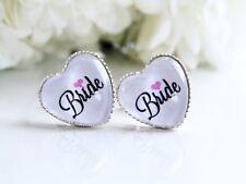 Bride Earrings Hen Do Party Accessories Jewellery Gift Party Heart Shape Wedding