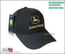 UK SELLER BRAND NEW GENUINE JOHN DEERE BLACK CAP TRACTOR BASEBALL TWILL  HAT