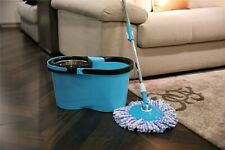 Microfiber Spin Mop with Bucket and two mop heads NEW - Blue