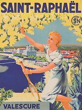 Impresión arte cartel Viaje Saint Raphael Francia Munier Valescure nofl1137