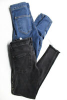 Z1975 Zara Basic Department Denim Women's Jeans Gray Blue Size 4 26 Lot 2