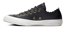 Converse All Star Frilly Thrills Leather Women SNEAKERS Size 9 (Black)