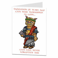 Funny Birthday Card Cat Theme For The Owner Lover Perfect For Men & Women