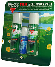 Jungle Formula Mosquito & Insect Repellent 3 Pack Spray Holiday Protection card