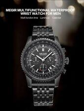 Montre Militaire Aviateur Top Qualité Homme Mégir Date Chronograph Etanche