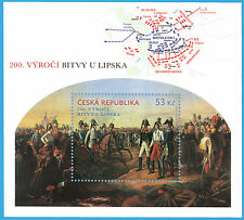 Czech - 200th Anniversary of the Battle of Leipzig 2013 stamp sheet Napoleon new