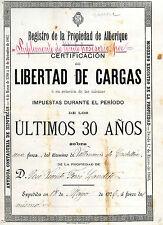 DOCUMENTO ANTIGUO DE 1906 · VILLANUEVA DE CASTELLÓN · ALBERIQUE · VALENCIA