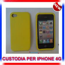 Custodia + Pellicola COVER SILICONE GIALLA PER IPHONE 4G