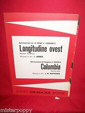 LE SFINGI I GERMANO'S Longitudine Ovest + IL GRUPPO A Columbia 1972 Spartiti