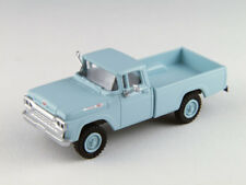 HO Scale Pickup Truck vehicle - 4x4 Skymist Blue