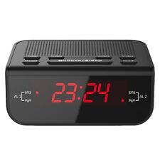 LED Digital FM Alarm Clock Radio with Dual Alarm Snooze Sleep Time Function New