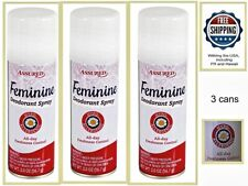 3 Cans of Assured Personal Care Feminine Deodorant Hygiene Spray 2 oz / 56.7 g