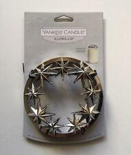 YANKEE CANDLE SHINY CHROME ARCTIC STAR  ILLUMA-LID JAR CANDLE TOPPER RETIRED