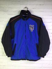 Majestic Boys Medium Youth New York Mets Windbreaker Lightweight Jacket Blue Blk