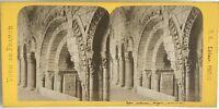 Angers la Iglesia Souterraine Foto Estéreo Vintage Albúmina c1870