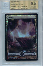 MTG Swamp BGS 9.5 Gem Mint Zendikar Foil Full Art Card Amricons 0064