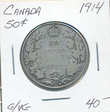 CANADA 50 CENTS 1914 - G/VG