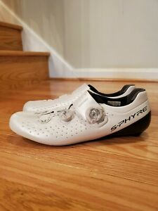 Shimano S-Phyre RC9 (RC900-S) Carbon Road Cycling, White, Size 45 (10.5 US)
