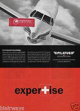 PILATUS PC-12 SWISS EXPERTISE-IT'S BEYOND KNOWLEDGE 2001 AD