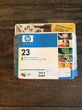 Genuine HP C1823T 23 Tri-Color Twin Pack Desk Jet 710 712 720 722 882 AA936