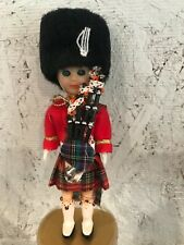UK Britain Vintage Almar Dolls - Set of Two -Circa 1960 Scottish Piper Dolls