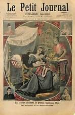 Empress Alexandra Feodorovna  TSARINE RUSSIE RUSSIA  1896 ILLUSTRATION