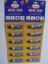 12 X Super Glue Tubes Super Strong, Super Fast Wood, Rubber, Plastic, Metal etc