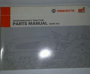 Kioti Daedong Tractor EX40 Parts Manual