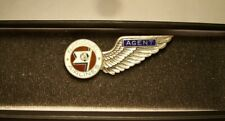 1940's NATIONAL AIRLINES Agent Badge 1st Issue in sterling silver by Balfour