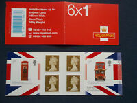 PM16 CLASSIC DESIGNS LONDON BUS 6 NVI MACHIN SELF ADHESIVE STAMP BOOKLET