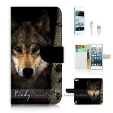 ( For iPod 5 / itouch 5 ) Flip Case Cover! P0784 Wolf