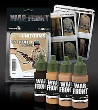 Scale 75, U.S. Army 1942-44 Uniforms War Front Paint Set, 4 colors 17ml bottles