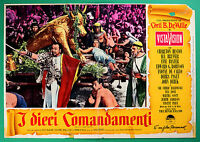 T58 Fotobusta I The Ten Commandments Charlton Heston Cecil B.De Tausend 8