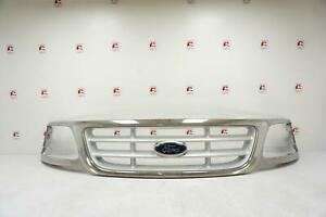 99 - 03 FORD F150 PICKUP UPPER Beige Tan Honeycomb Center Grille OEM