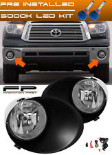 LED 07-13 Toyota Tundra Clear Fog Lights Full Complete Kit (Metal Bumper Only)
