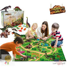 Kids Dinosaur Toy Figure Playsets with Play Mat Jurassic Park Educational Gift