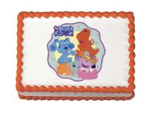 """Blues Clues LUCKS Edible Icing Image 7"""" Round"""