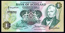 BANK OF SCOTLAND: una libbra, 10-8-1970, B/3, 0032620 (anno delle banconote LIBRO: SC.