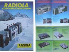 BROCHURE AUDIO RADIOLA - 1984 - RADIO WALKMAN BOOMBOX